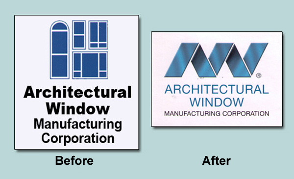 Architectural Window Manufacturing Company logos compared