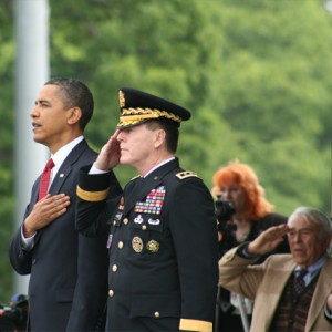 President Barack Obama giving the commencement address at West Point.   Avekta Productions Photo.